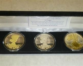Barbie Special 30th Anniversary Commemorative Coin Set in .999 Silver with 24K gold Accents, #191 of a Limited Edition of 1,000