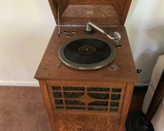 Antique record player $350