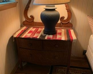 Oak Washstand (Harp Back)-$145