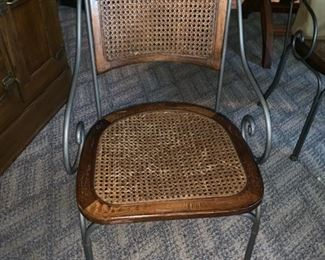 $ Wicker Chairs with Iron Frames -$200