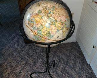 Globe on Iron Stand-$135