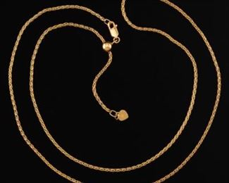Italian Gold Wheat Necklace