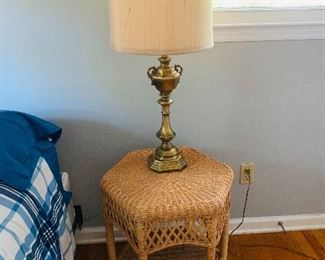 Wicker Accent Table, one of two