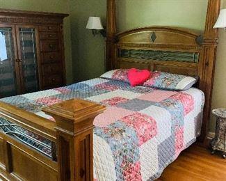 Queen Four Poster Bed by Alexander Jullian, Complete Matching Bedroom