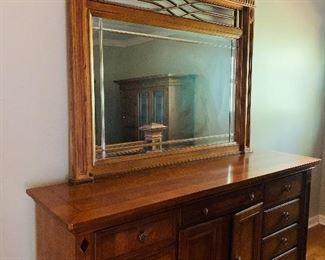 Matching Queen Bedroom Suite by Alexander Jullian, Dresser with Mirror