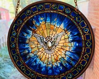 """Stained Glass Window Accent, approx 6"""" diameter"""