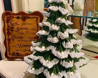 Musical Ceramic Lighted Christmas Tree