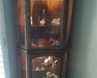 Curio Cabinet and figurines