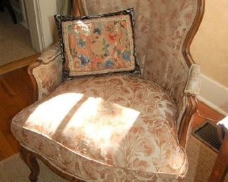 French closed-arm chair