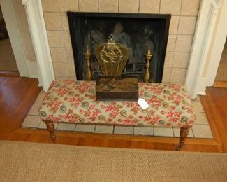 Vaughn needlepoint bench from England