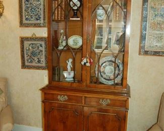 English not-antique bookcase cupboard