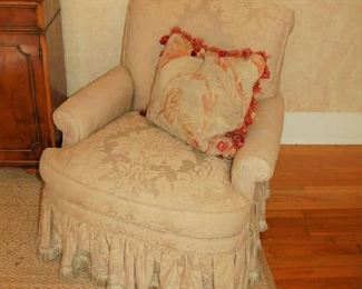 One of pair of custom chairs