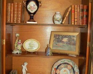 Interior of bookcase cabinet