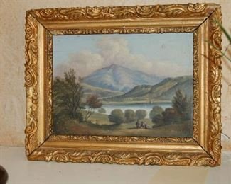 Early English landscape on panel