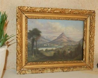 Early English landscape signed and dated