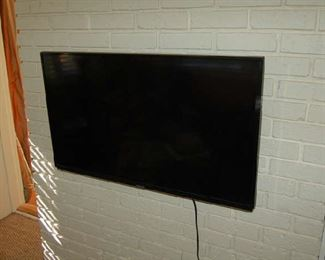 One of several flat screen televisions