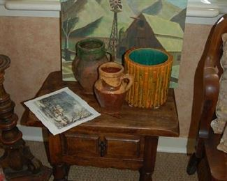 Small one drawer English table