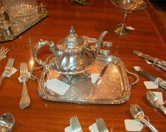 Sterling Silver all but the tray