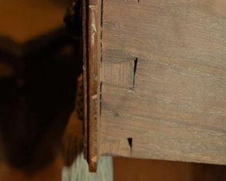 Drawer detail of cabinet
