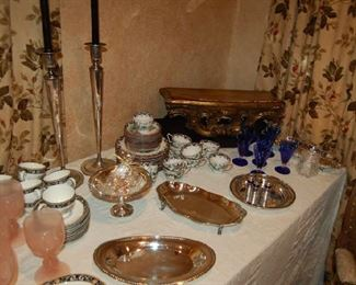 Glassware and serving pieces