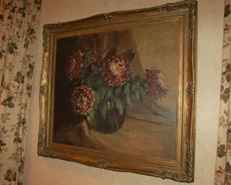 Signed oil and canvas still-life