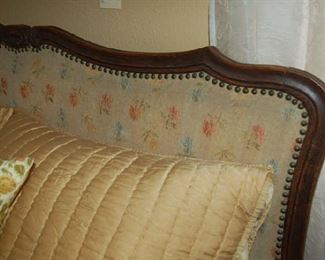 Detail of upholstered bed