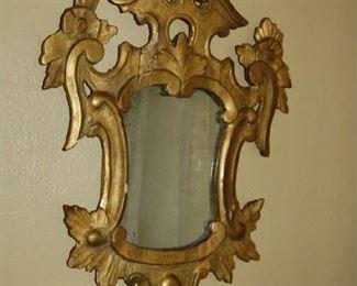 Pair of Italian gilt-wood mirrors