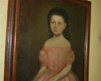 Antique American portrait