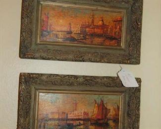 Two Venetian oil on panels
