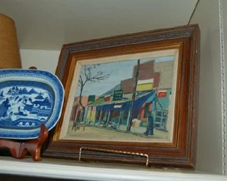 """""""County Store"""" signed by artist"""