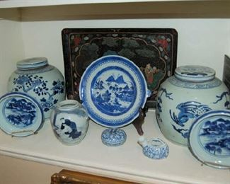 Blue and white collections
