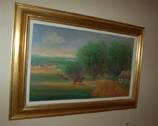 English landscape oil on canvas