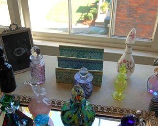 Perfume bottles and Murano glass