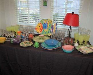 Colorful serving pieces