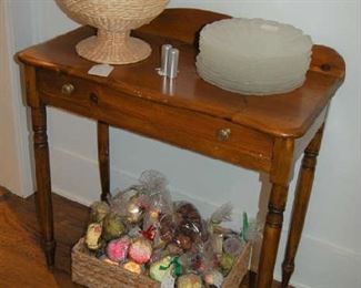 Country pine one drawer table