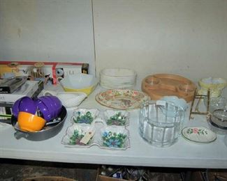 Various dishes and serving pieces
