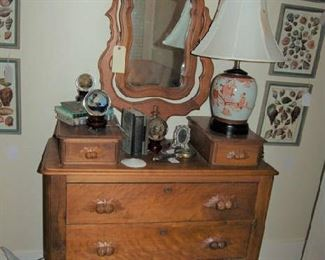 English chest with mirror