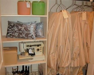 Sewing machine and custom made curtains