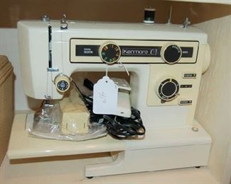 Sewing machine with attachments