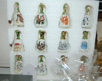 Collectible of porcelain bells