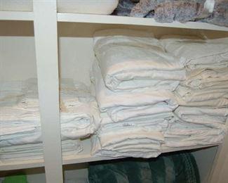 Linen closet full