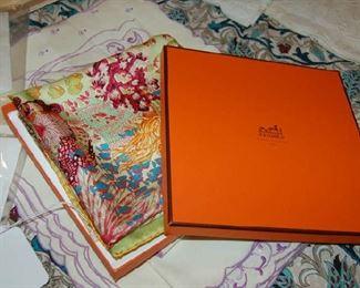 Hermes scarf in original box