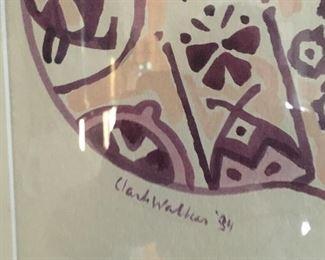 Detail of Clark Walker cat painting