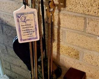 Fireplace Set - Brass