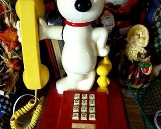 Snoopy & Woodstock phone