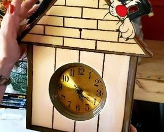 Sylvester and Tweety Wall Clock
