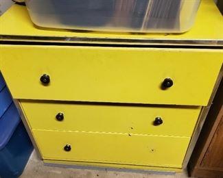 Yellow Dresser- Three Drawer