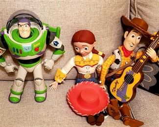 The gang is all here!! Talking Buzz, Drawstring Jesse and Drawstring Woody