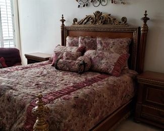 majestic king-size bed with matching nightstands
