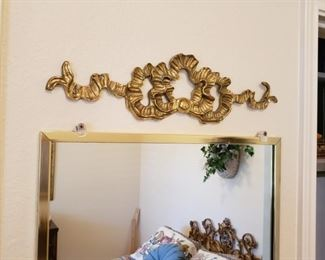mirrors and hanging decor